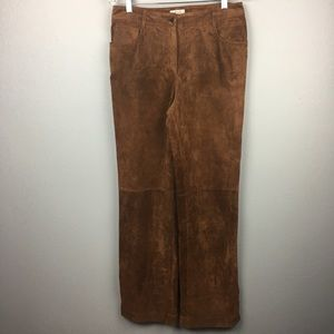 GORGEOUS LOFT LEATHER SUEDE PANTS SIZE 8